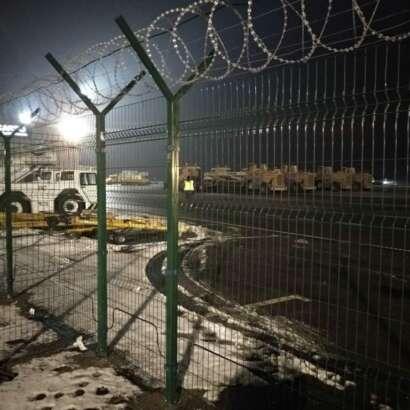 Наши работы - Забор в аэропорту Храброво Калининград